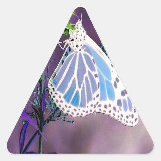 Mariposa enrrollada pegatina triangular