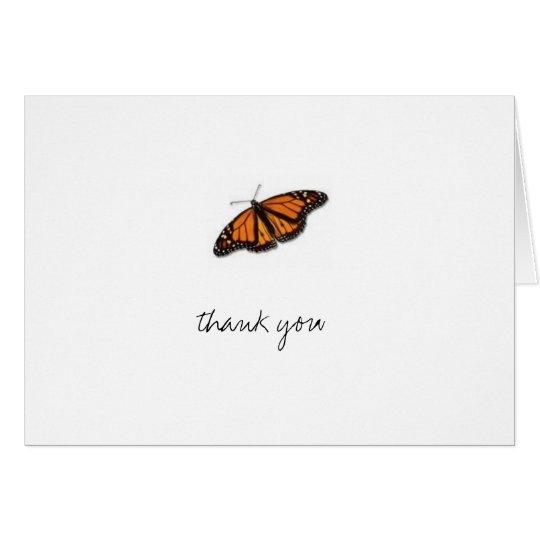 mariposa, gracias tarjeta pequeña