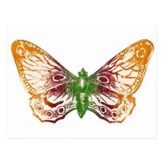 Mariposa inmóvil postal