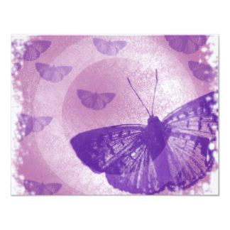 mariposa invitación 10,8 x 13,9 cm