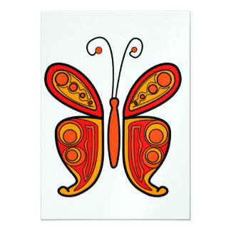 Mariposa Invitación 12,7 X 17,8 Cm