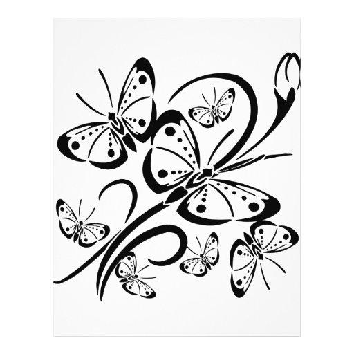Mariposa linda tarjetón