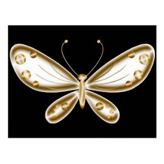 Mariposa magnífica y de oro postal