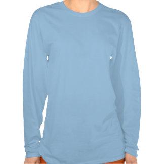 Mariposa metálica azul brillante T del remiendo Camisetas