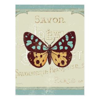 Mariposa modelada vintage postal