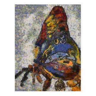 Mariposa Monet de Frida Kahlo inspirado Postal