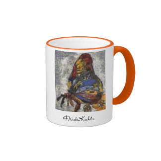 Mariposa Monet de Frida Kahlo inspirado Taza De Dos Colores