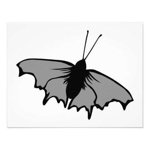 Mariposa monocromática invitacion personalizada
