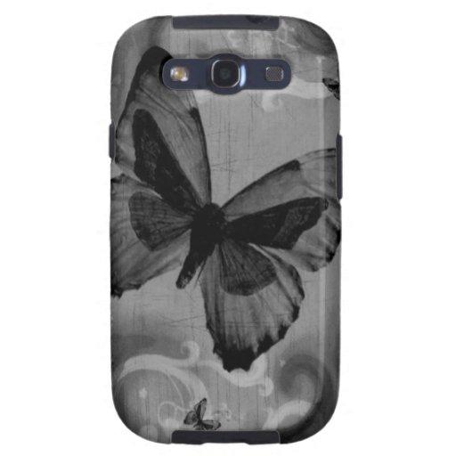 Mariposa negra animal abstracta samsung galaxy s3 coberturas