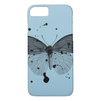 Mariposa negra de la salpicadura funda iPhone 7