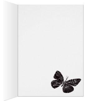 Mariposa negra geométrica tarjeta de felicitación
