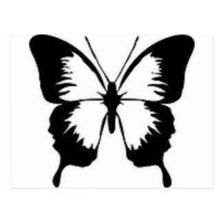 Mariposa negra postal