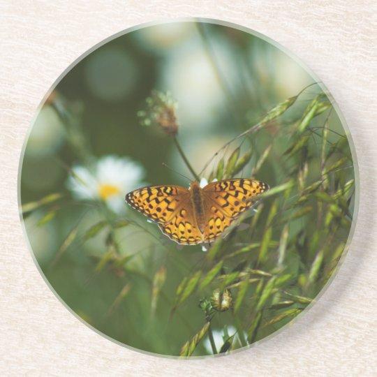 Mariposa pacífica del Fritillary Apoyavasos