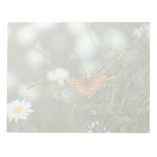 Mariposa pacífica del Fritillary Bloc De Notas