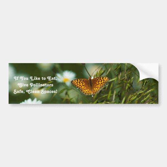 Mariposa pacífica del Fritillary Pegatina Para Coche