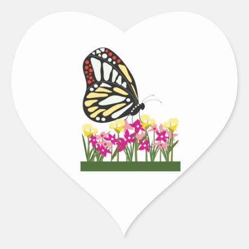 Mariposa Calcomania De Corazon Personalizadas