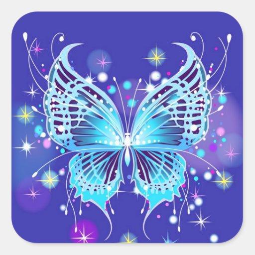 Mariposa Colcomania Cuadrada