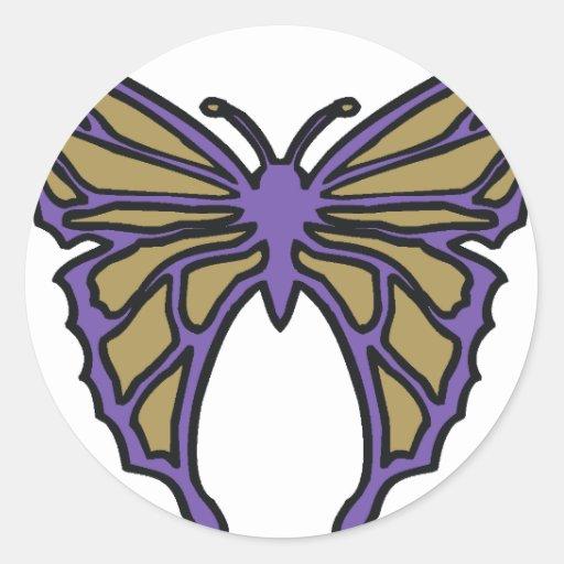 Mariposa Pegatinas Redondas