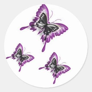 Mariposa-Pegatina duplicado Pegatina Redonda