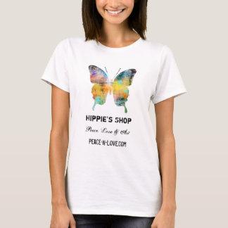 Mariposa promocional del valor de la tienda del camiseta