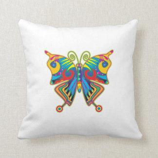 Mariposa psicodélica cojín