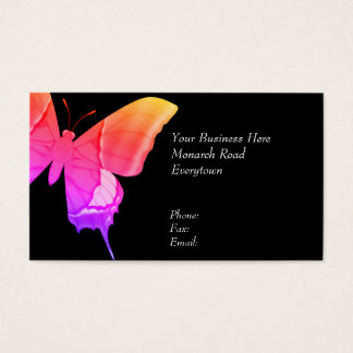 Mariposa psicodélica tarjeta de negocios