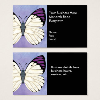Mariposa púrpura de la extremidad de la reina tarjeta de negocios