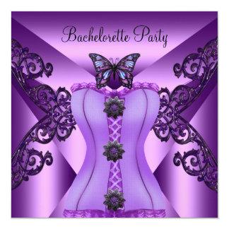 Mariposa púrpura del corsé de la lila del fiesta comunicado personalizado