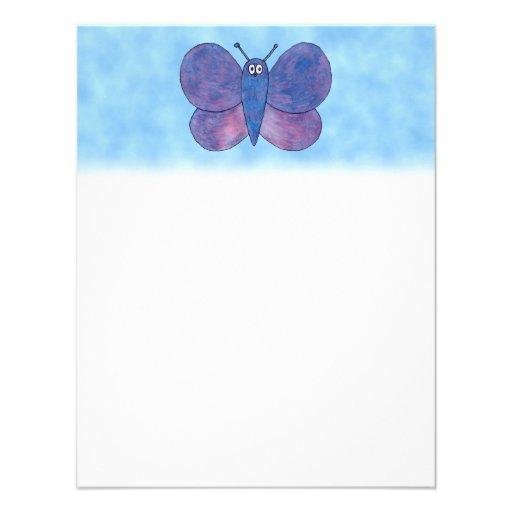 Mariposa púrpura invitacion personal