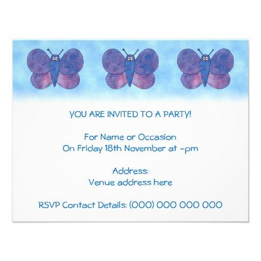 Mariposa púrpura comunicado