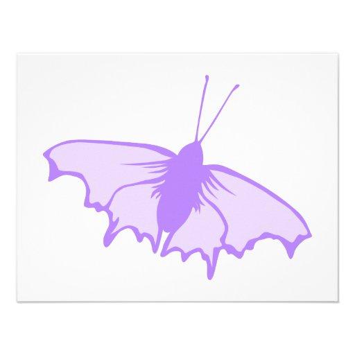 Mariposa púrpura anuncios personalizados