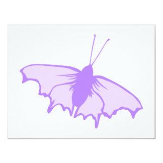 Mariposa púrpura invitación 10,8 x 13,9 cm
