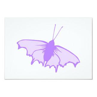 Mariposa púrpura invitación 8,9 x 12,7 cm