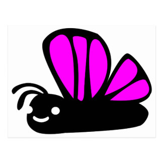Mariposa púrpura linda postal