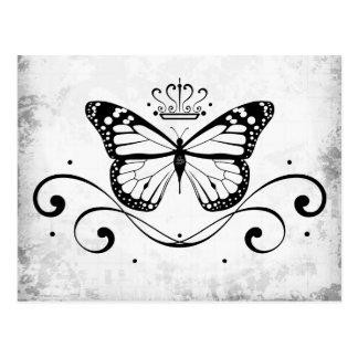 Mariposa real elegante postal