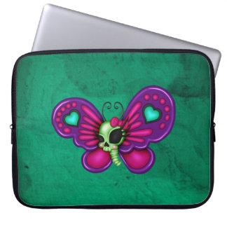 Mariposa retra del zombi de la diversión funda para ordenador