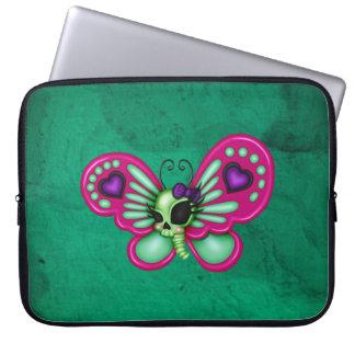 Mariposa retra del zombi de la diversión funda para portátil