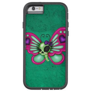 Mariposa retra del zombi de la diversión funda tough xtreme iPhone 6