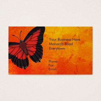 Mariposa roja brillante de Charaxes Tarjeta De Negocios