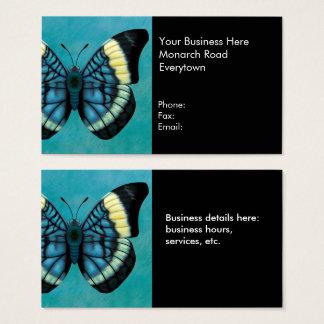 Mariposa roja el interruptor intermitente tarjeta de negocios