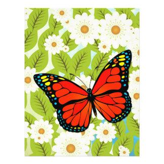 Mariposa roja folleto 21,6 x 28 cm