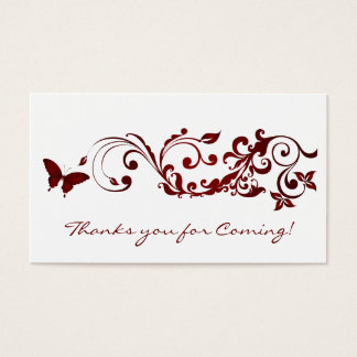 Mariposa roja, gracias usted tarjetas por casarse