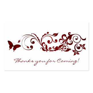 Mariposa roja, gracias usted tarjetas por casarse tarjetas de visita