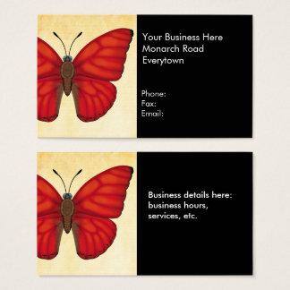 Mariposa roja sangre del planeador tarjeta de negocios