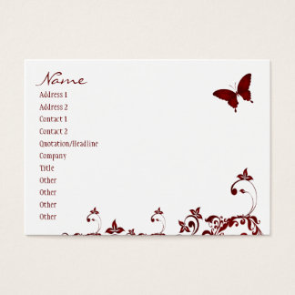 Mariposa roja tarjeta de negocios