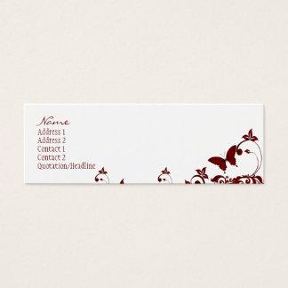 Mariposa roja tarjeta de visita pequeña
