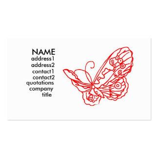 mariposa roja plantilla de tarjeta de visita
