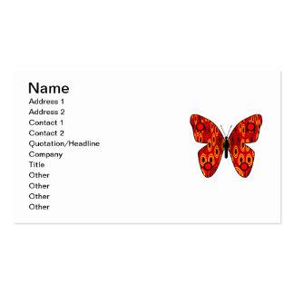 Mariposa roja tarjetas de visita