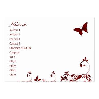 Mariposa roja tarjetas de visita grandes
