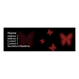 Mariposa roja tarjetas de visita mini